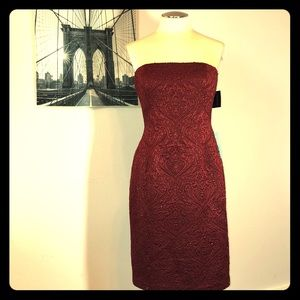 Vintage Carmen Marc valvo beaded NWT dress sz 10